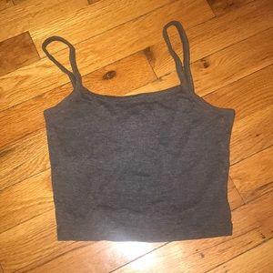 Grey crop top, never worn